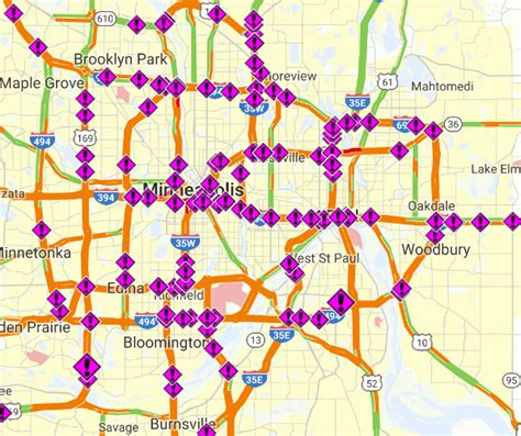 mndot traffic map crashes all the place overnight as snow piles up cities