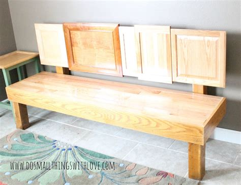 Cabinet Door Projects Diy Cabinet Door Bench Do Small Things With Great