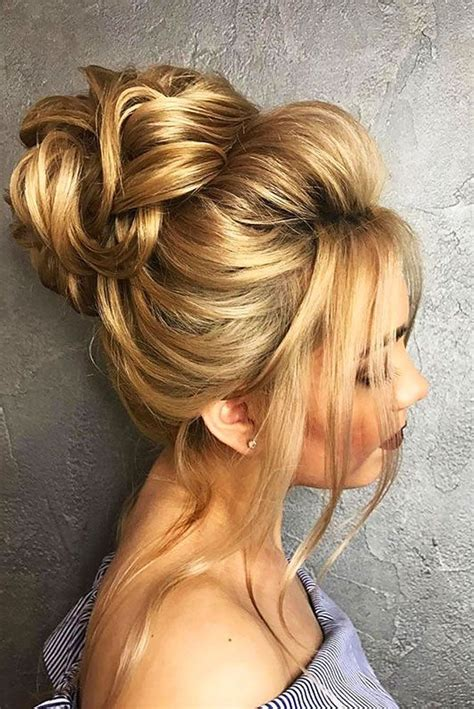 Wedding Hair Buns by 18 Gorgeous Wedding Bun Hairstyles See More Http Www