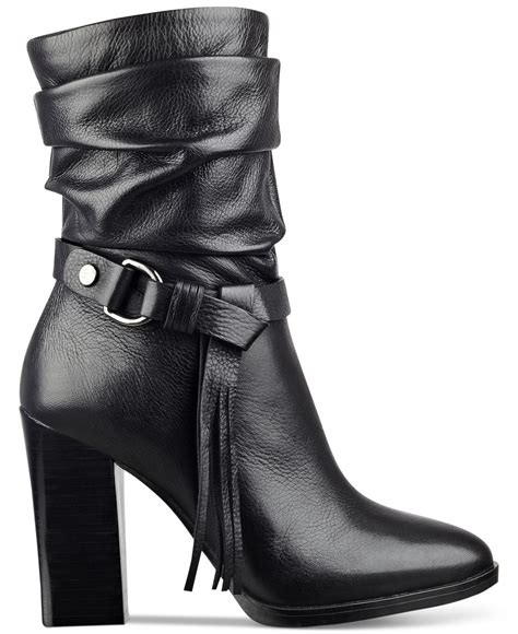Guess Sprint Black Leather guess tamsin slouch booties in black lyst