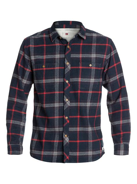 the flannel sleeve flannel shirt eqywt03034 quiksilver