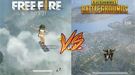 fire  pubg mobile comparison youtube