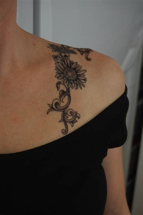 sunflower vine tattoo designs 125 sunflower to brighten your day