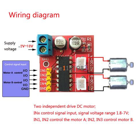 2 5a mini dual channel dc motor driver module kit speed