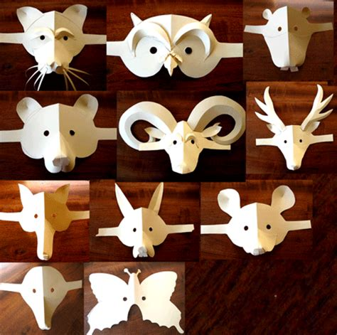 How To Make Animal Masks With Paper - puppet project pages