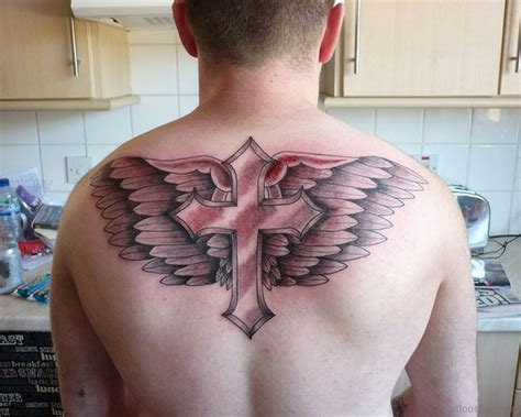 wings cross tattoo 60 fabulous cross tattoos for back
