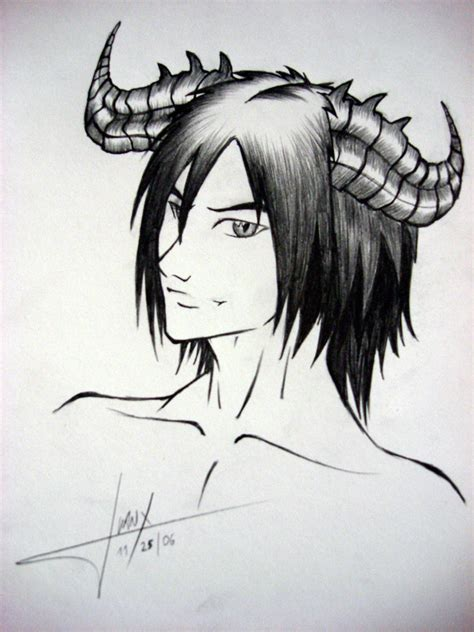 anime demon drawings demon boy by juanx on deviantart