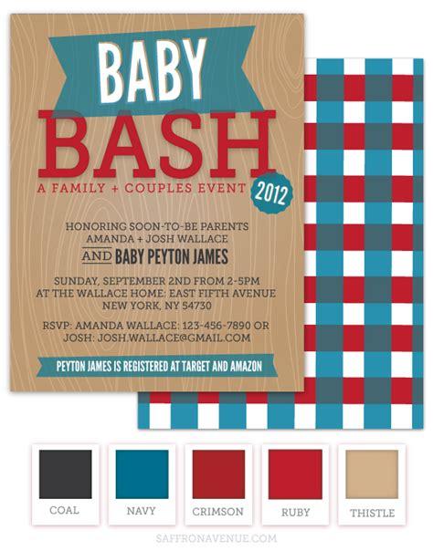 co ed baby shower invitations baby bash bbq invitation saffron avenue