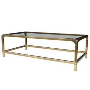 Brass Glass Coffee Table Mastercraft Brass And Glass Coffee Table At 1stdibs