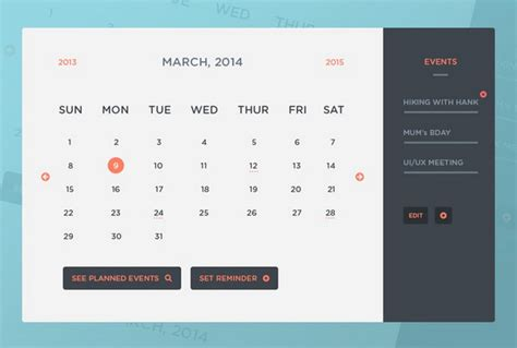 free calendar design html 40 best free calendar templates psd css3 wallpapers