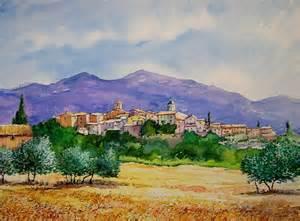 tableau en liège 1644 peinture aquarelle tableau paysage li 195 168 ge m de laveleye