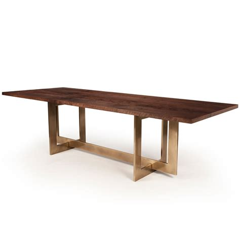 hudson furniture dining tables bronze highline table