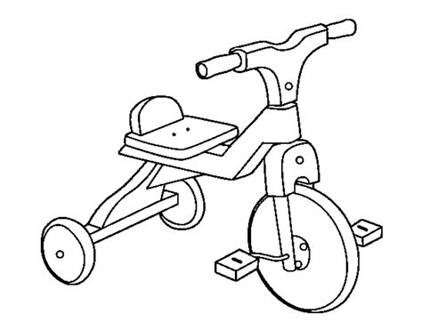 coloring page tricycle free coloring pages