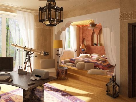 decorate a bedroom to make it look with gold