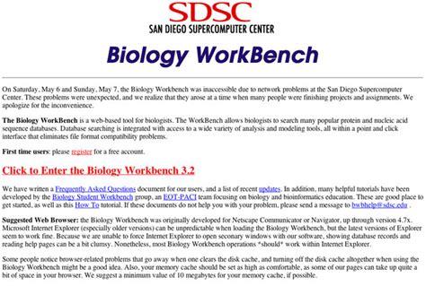 biology work bench create data set