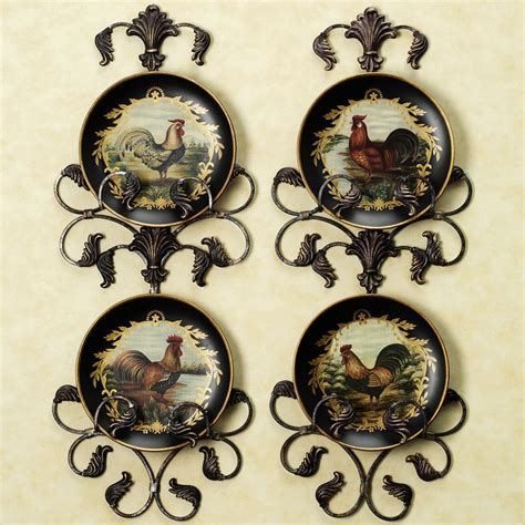 decorative kitchen wall plates sandpiper and sea oats wall set set of two rooster