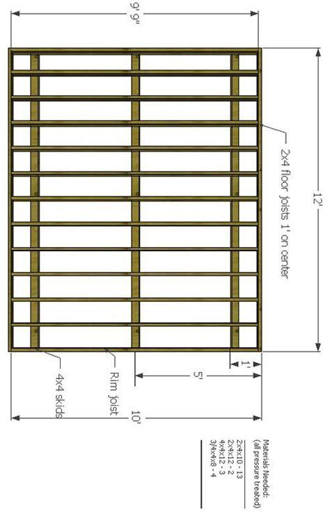 shed foundation skid shed blueprints shed floor shed