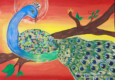 themes for drawing and painting competition 3rd peacock the national bird painting competition 2014