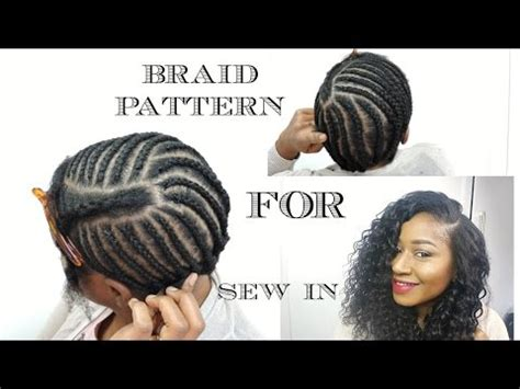 sew in bob braid pattern updated braiding pattern for a side part with leave out
