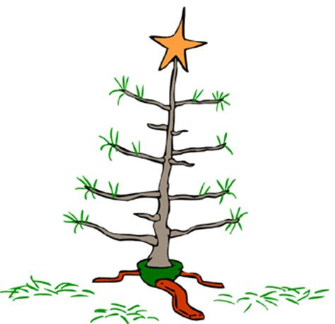 charlie brown christmas tree clipart clipartxtras