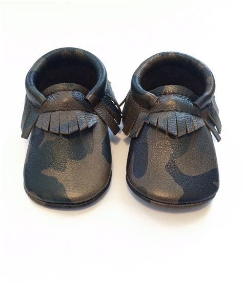 infant moccasins baby moccasins toddler moccasins camo leather moccasins