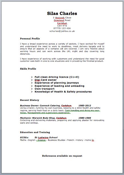 Cv Template Uk Free Free Targeted Cv Template Zone Jobfox Uk