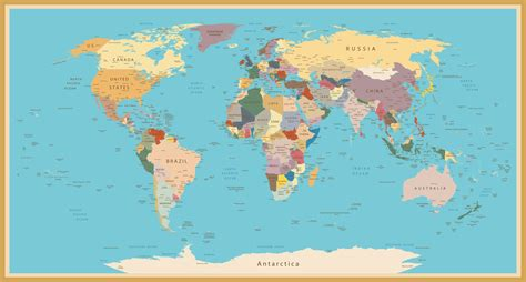wold map a stylish vintage world map custom wallpaper