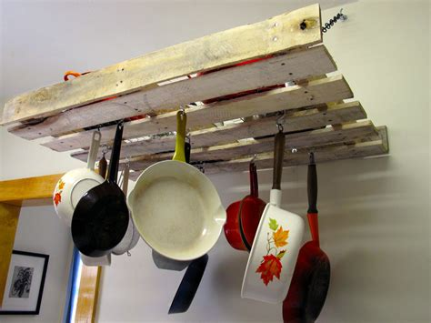 Kitchen Pot Rack Ideas home improvements pallet pot rack a greenpoint kitchen