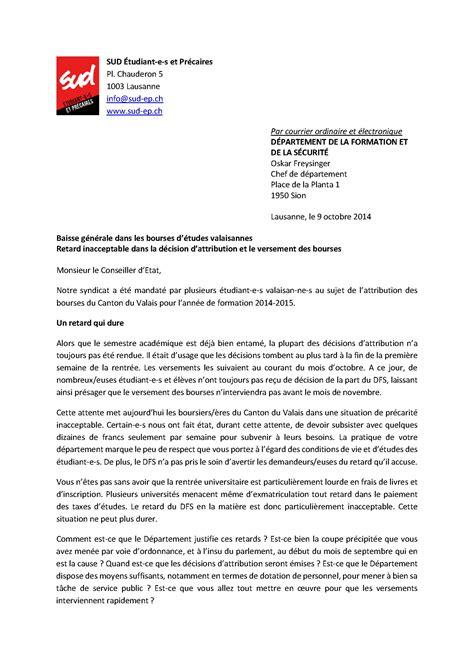 Exemple De Lettre De Demande De Bourse Scolaire lettre de demande de bourse detude
