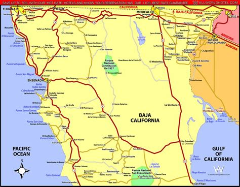 map of baja california baja california norte map california map