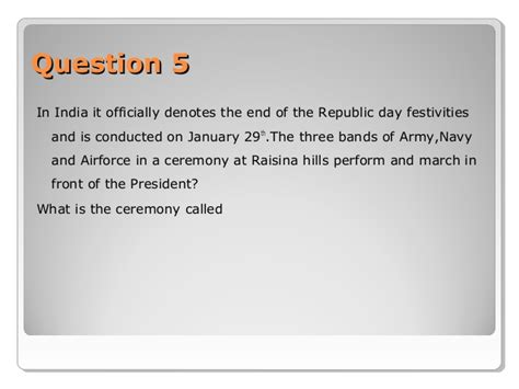 quiz questions based on republic day inter school quiz at alleppey