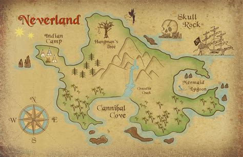 neverland map coloring page neverland map printable freebie neverland map download