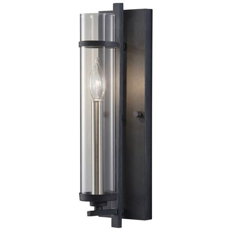 Modern Sconces Lighting by Modern Sconce Wall Light With Clear Glass In Antique