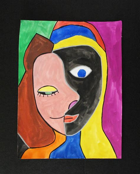 that artist woman in the style of picasso portraits
