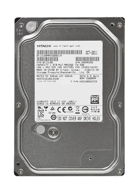 Hitachi 25 Inch 1tb Sata 7200rpm hds721010dle630 hitachi deskstar 1tb sata 6 0 gbps drive