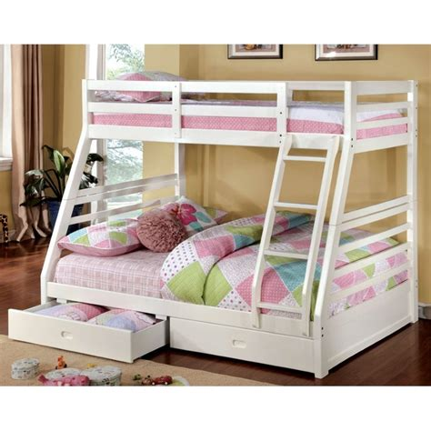 furniture of america bunk beds furniture of america torrance twin over full bunk bed in