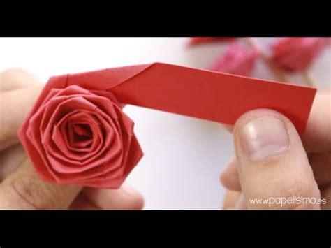 flores de hoja de maquina c 243 mo hacer rosas con una tira de papel tipo quilling