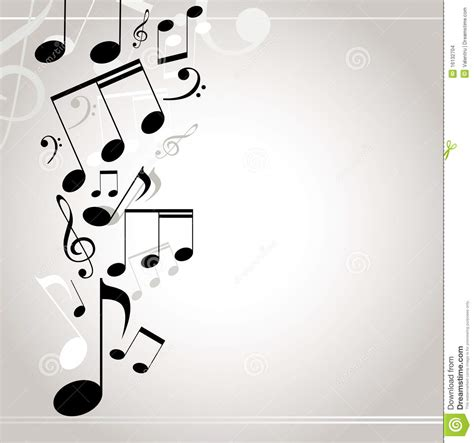 imagenes de tonos musicales 空白背景黑色轻的音符
