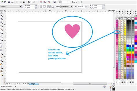 Membuat Kartu Ucapan Valentine Dengan Corel Draw | tutorial membuat kartu ucapan valentine