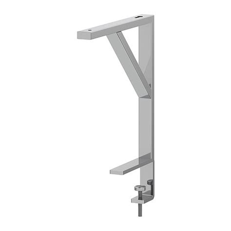 Ekby Shelf Brackets by Ekby T 214 Re Bracket For Table Top Silver Color