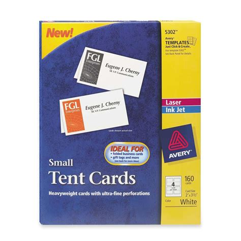 avery laser inkjet tent cards template avery tent card ld products