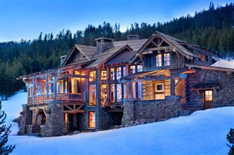 15000 Sq Ft House Plans by Mountain House With Winter Snow