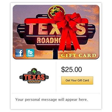 Gift Card Texas Roadhouse - texas roadhouse ribbon gift cards e mail delivery immitate com