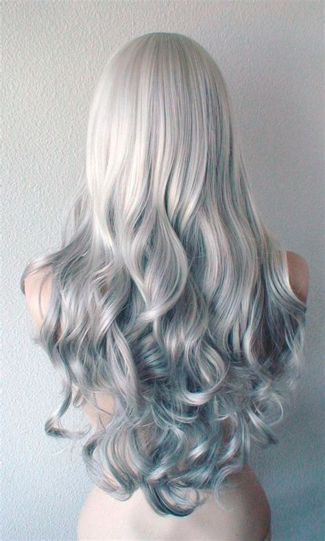 salt and pepper long hair wig 25 best ideas about long curly hairstyles on pinterest
