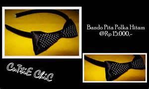 Bando Hitam Pita Gold bando pita polka hitam ressty ada di sini