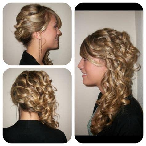 wedding hairstyles side curls side curls wedding hair make up and hair pinterest