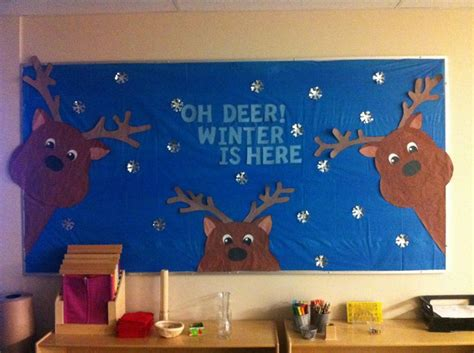 oh deer door decoration oh deer winter is here board ideas winter deer and winter