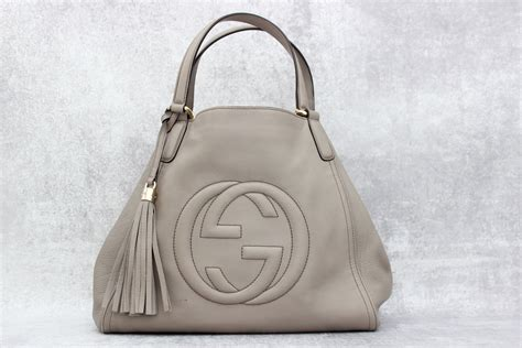 gucci grey leather soho medium hobo at s consignment