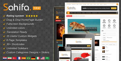 sahifa theme for wordpress sahifa v3 0 4 responsive wordpress news magazine blog