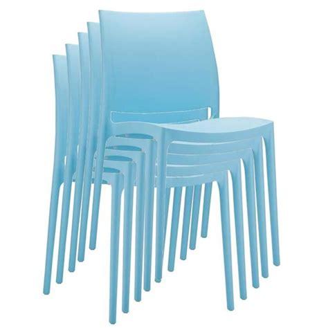 chaise jardin plastique chaise de jardin empilable en plastique bleu clair dim